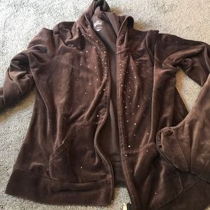 Velour hoodie pants set size xl